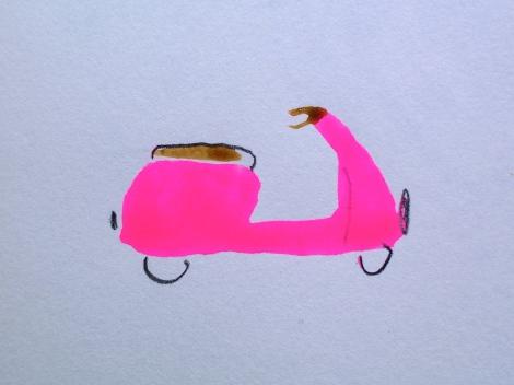 Pink Vespa.