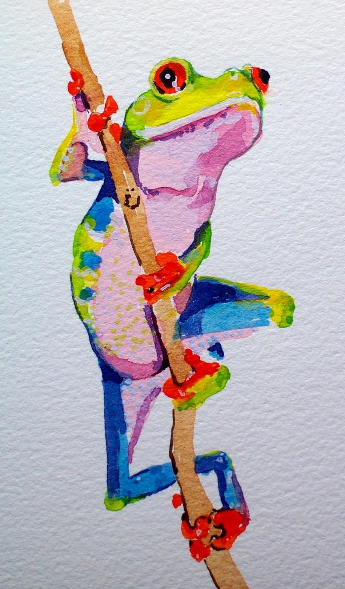 Frog-wallpaper study.
